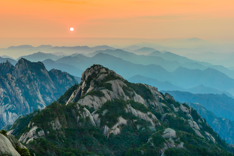 les montagnes jaunes huangshan en chine information et