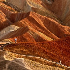 Zhangye Danxia collines rouges