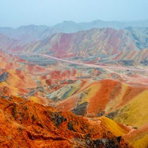 Zhangye Danxia vallée